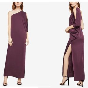 BCBGMAXAZRIA Vnetn Rose One Shoulder Dress NWT